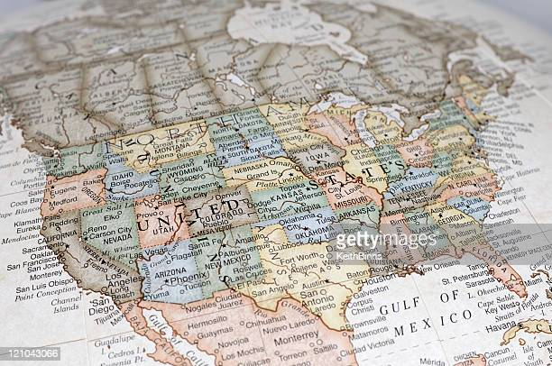 usa - maps stock photos and pictures