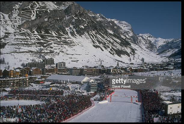 THE DOWNHILL SKIING VENUE VAL D''ISERE AT THE 1992 WINTER OLYMPIC GAMES IN ALBERTVILLE FRANCE