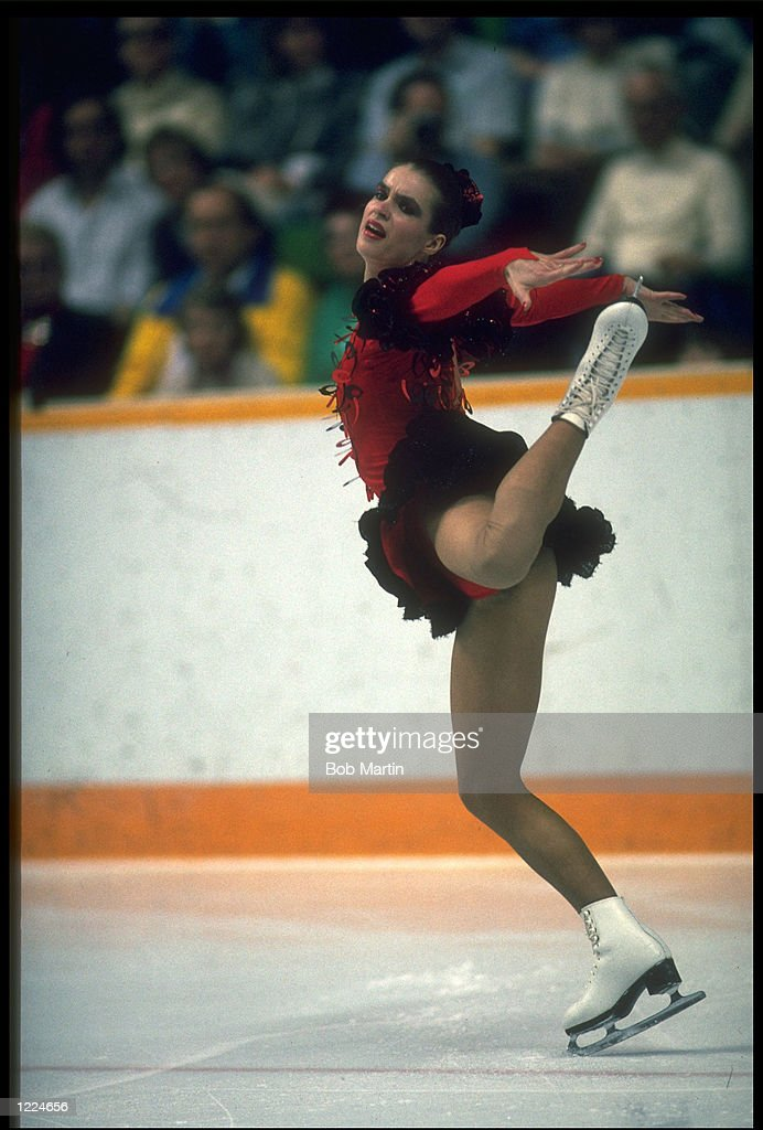 KATARINA WITT OF WEST GERMANY PERFORMS HER ROUTINE DURING ...