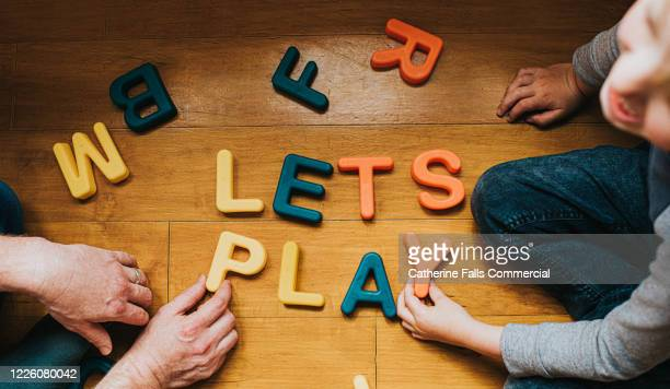 'lets play' - spelling stock pictures, royalty-free photos & images