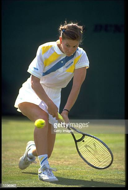 KATHY RINALDI OF THE UNITED STATES IN ACTION AT THE 1989 DOW CLASSIC IN BIRMINGHAM ENGLAND