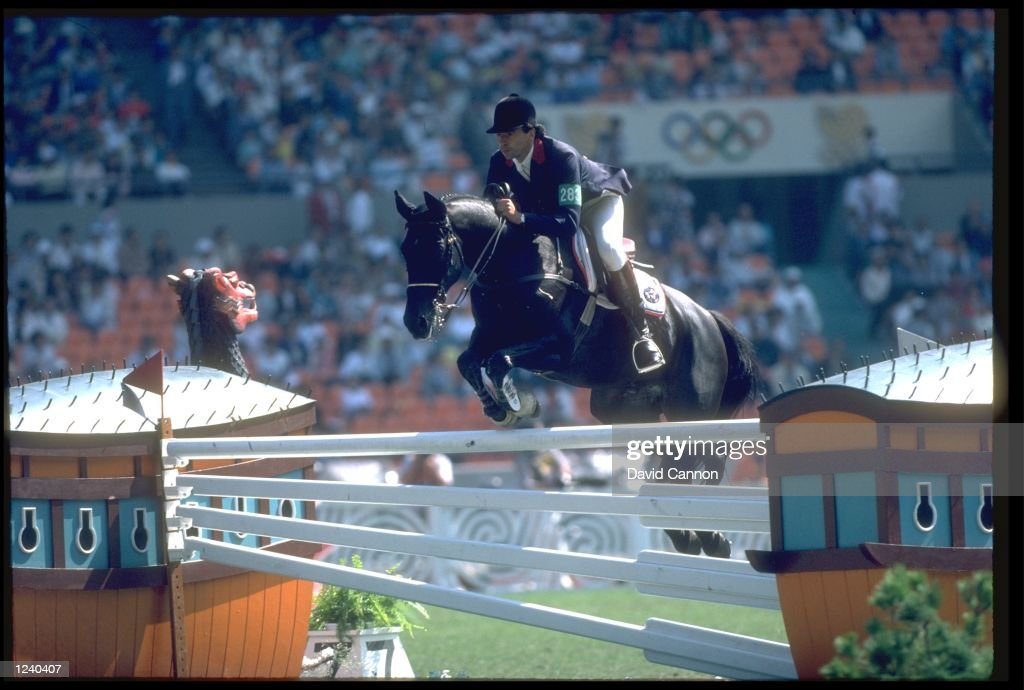 PIERRE DURAND OF FRANCE CLEARS A FENCE ON HIS MOUNT JAPPELOUP DE LUZE DURING THE INDIVIUAL JUMPING COMPETITION AT THE 1988 SEOUL OLYMPICS. DURAND WON THE GOLD MEDAL.