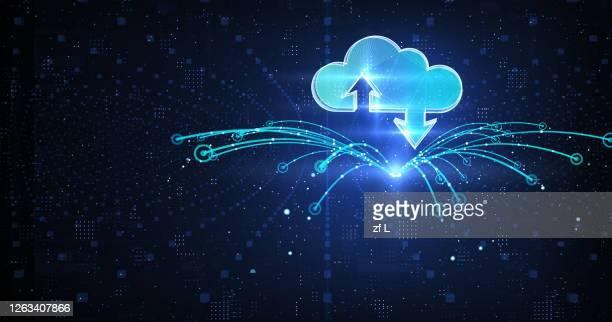 雲端的智慧城市 - cloud computing stock pictures, royalty-free photos & images