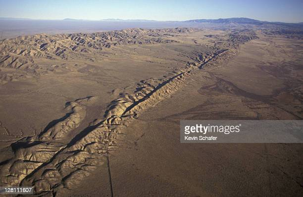 san andreas fault. south california. - tectonic stock photos and pictures
