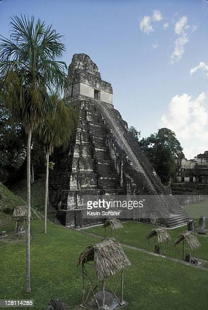 GUATEMALA, TIKAL, TEMPLE I, GREAT PLAZA