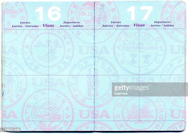 us passport - passport stamp stock photos and pictures