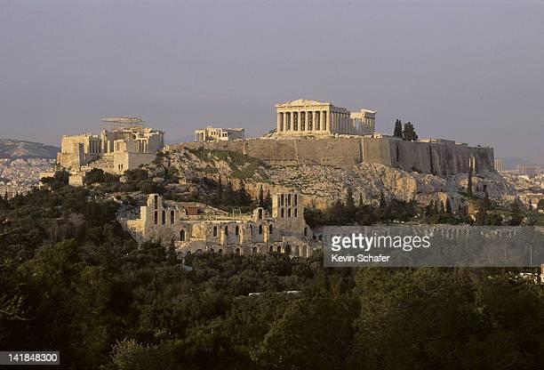 greece. athens. parthenon and acropolis. h - パルテノン神殿 ストックフォトと画像