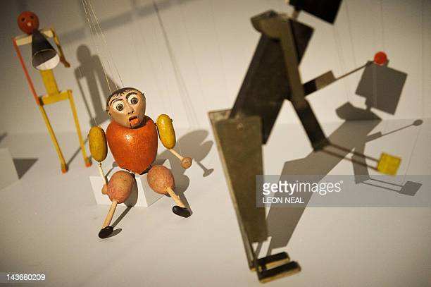 The Little Hunchback by Kurt Schmidt and Toni Hergt is displayed in the Barbican centre in central London on May 2 2012 as the venue prepares to host...