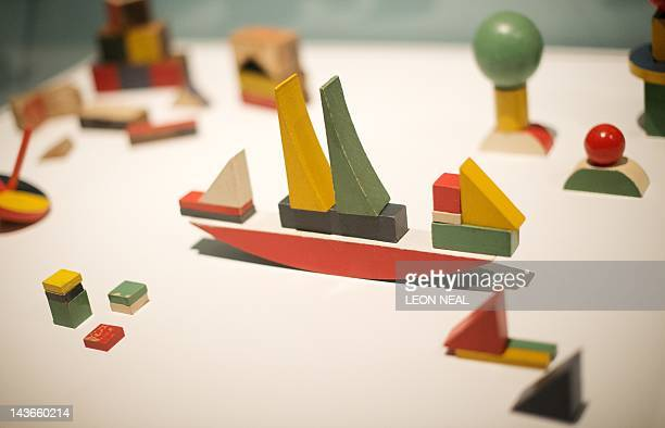 Ship Building Toy by Alma Buscher is displayed in the Barbican centre in central London on May 2 2012 as the venue prepares to host a major...