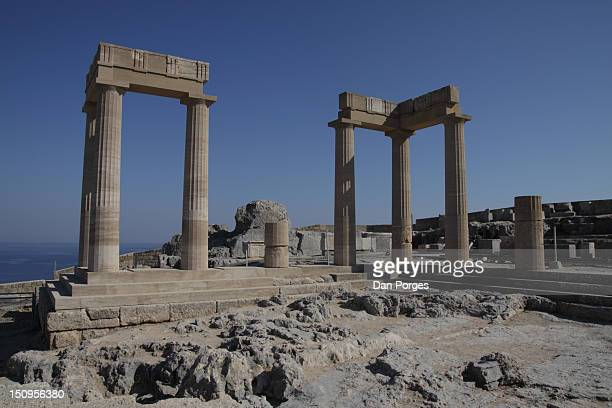 history dug - lindos stock photos and pictures