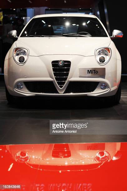 An Alfa Romeo Mito car sits on display at the Paris Motor Show on September 27 2012 in Paris France The Paris Motor Show runs September 29 October 14