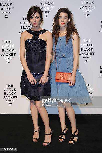 Anna Mouglalis and Astrid BergesFrisbey attend the 'Chanel The Little Black Jacket' exhibition launch on October 25 2012 in Sydney Australia The...