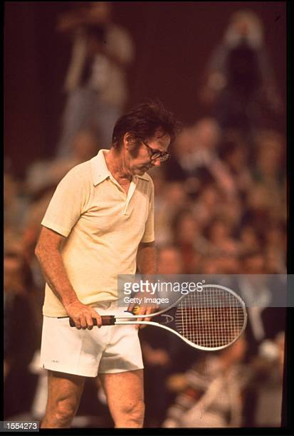 BOBBY RIGGS DURING HIS GAME WITH BILLIE JEAN KING OF THE USA