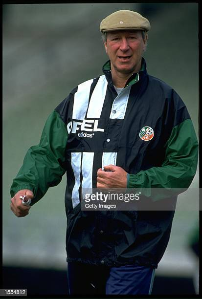 A PORTRAIT PICTURE OF JACK CHARLTON THE MANAGER OF THE REPUBLIC OF IRELAND TAKEN DURING A TRAINING SESSION IN DUBLIN