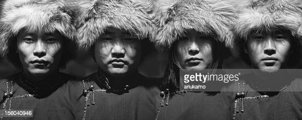 mongolz - mongolian women stock photos and pictures