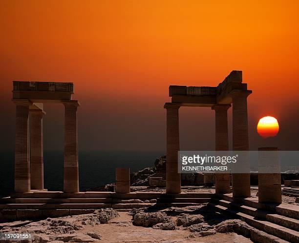 300 b.c. - lindos stockfoto's en -beelden