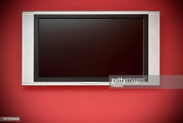 HD-LCD-Fernseher (mit Bildschirm und clipping path