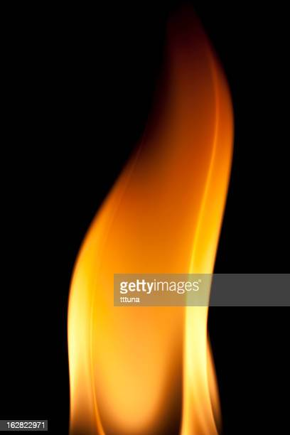 fire burning, flames on black background - phoenix bird stock pictures, royalty-free photos & images