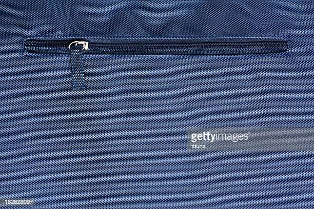 blue zipper, creative abstract design background photo - pocket stock photos and pictures