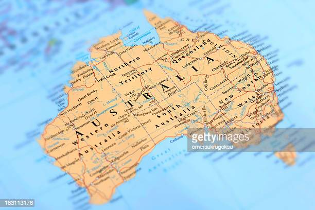 australia - maps stock photos and pictures
