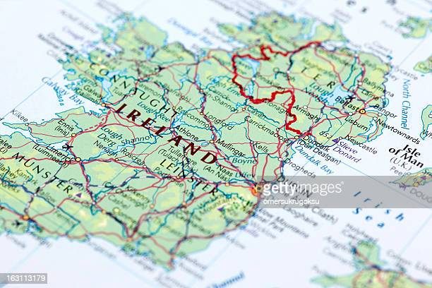 ireland - geographical border stock pictures, royalty-free photos & images