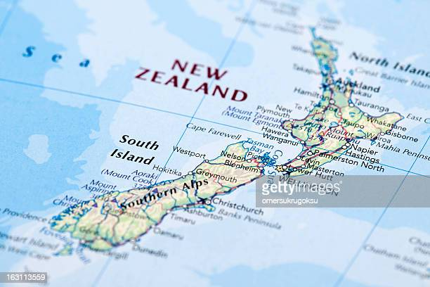 new zealand - maps stock photos and pictures