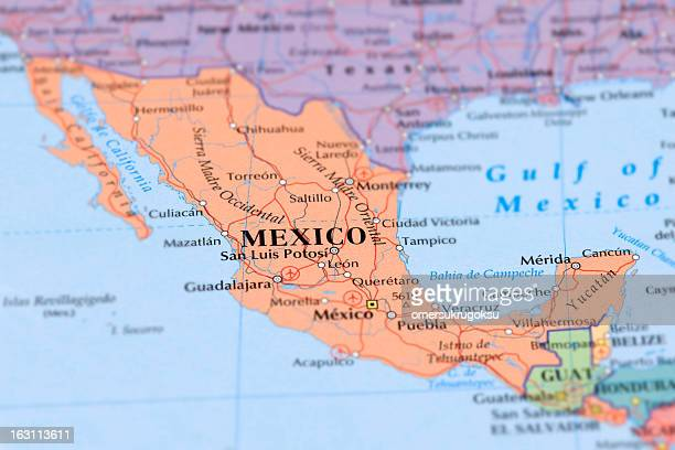 Mexico Map Stock Photos And Pictures