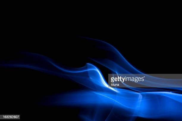 blue, creative abstract vitality impact smoke photo - flame stock pictures, royalty-free photos & images