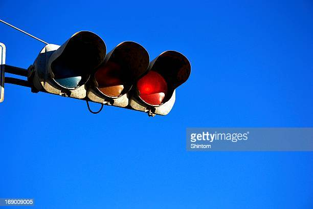 red & blue - road signal stock pictures, royalty-free photos & images