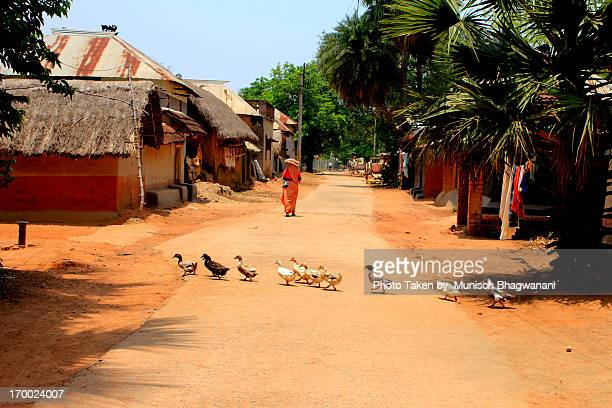 village street - village stock pictures, royalty-free photos & images