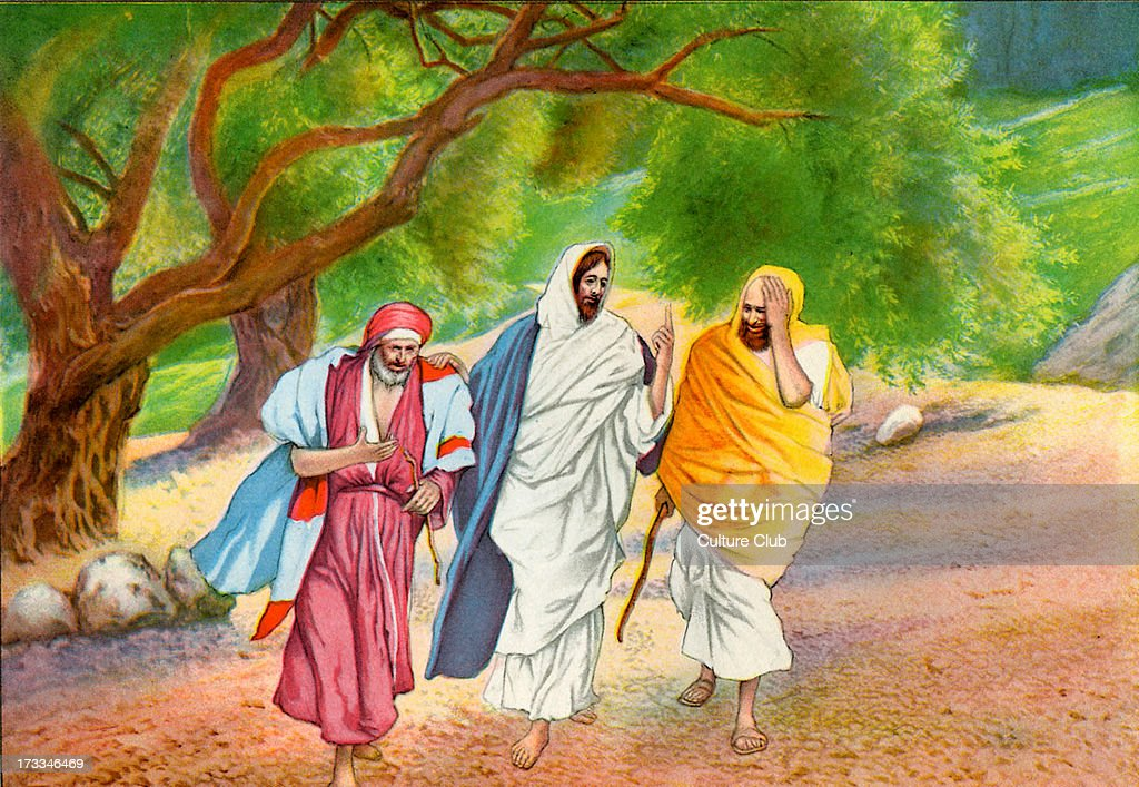 Jesus with two friends : News Photo
