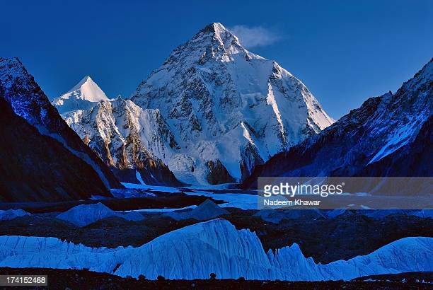 k-2(8611m). - k2 mountain stock pictures, royalty-free photos & images