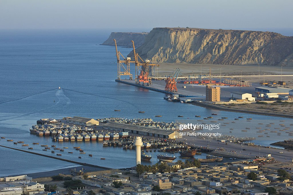 GAWADAR PORT & FISH HARBOR : Stock Photo