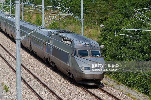 tgv (french high-speed train) - moselle france stock pictures, royalty-free photos & images