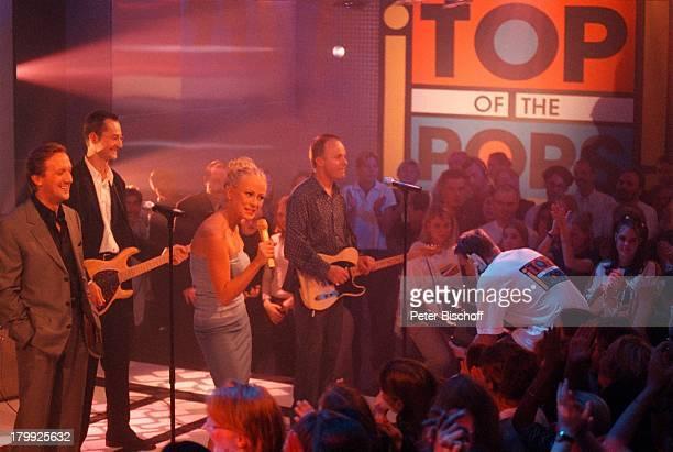 Jenny Elvers Marius MüllerWesternhagen'Top of the Pops'RTLShow AuftrittInstrument Gitarre