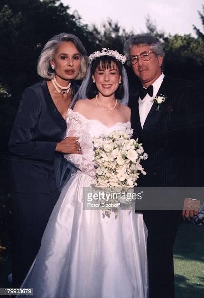 Daliah LaviGans Ehemann Chuck GansTochter Kathy Hochzeit von Tochter Kathy Jason Rothman New York USA/Amerika