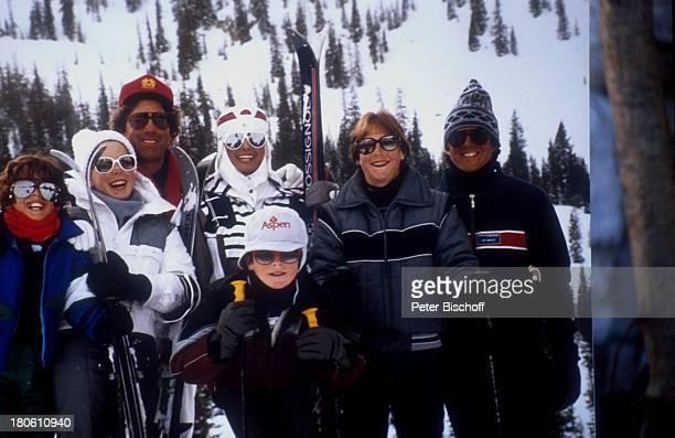 Daliah Lavi Gans Rouven LaviGans Kathy Rothmann Steven Alexander Lavi Winterurlaub mit Familie Aspen / Colorado / USA / Nord Amerika / Schnee...
