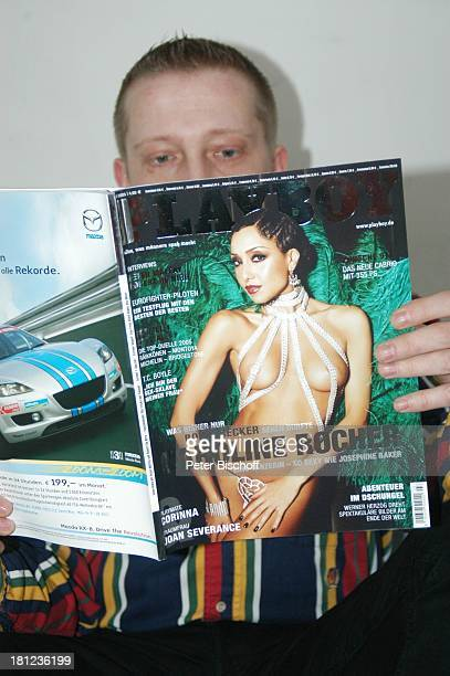PlayboyLeser Caroline Rocher Playboy Ausgabe 03/2005 Magazin HerrenMagazin Aktfoto Akt nackt Busen sexy Promis Prominente Prominenter