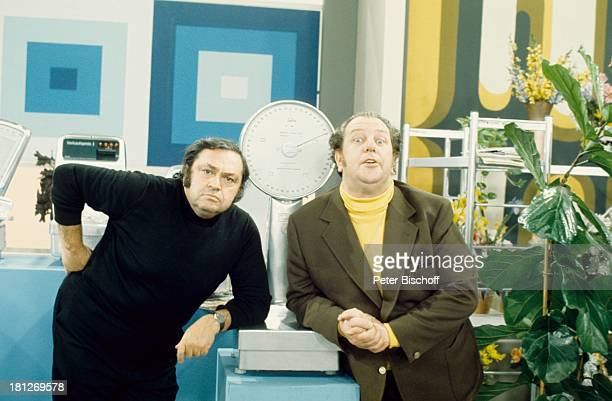 Heinz Eckner Mircea Krishan ARD'Rudi Carrell Show' Folge 'Messe' Studio Waage Waagen Moderator