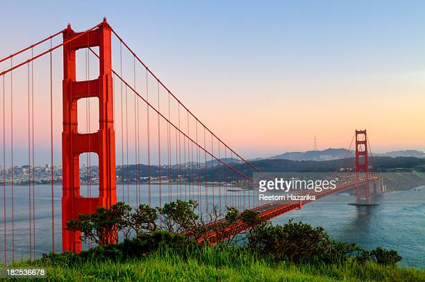 [UNVERIFIED CONTENT] GOLDEN GATE BRIDGE SAN FRANCISCO DOWN TOWN SAUSALITO MARIN HEADLANDS CALIFORNIA PENINSULA SUNSET COLORS POSTCARD CONSERVANCY...