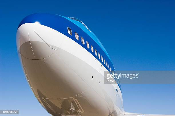 747 - fuselage stock photos and pictures