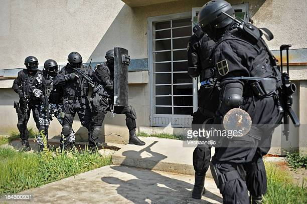 swat - aggression stock photos and pictures