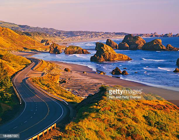 cape sebastian state scenic corridor - oregon us state stock pictures, royalty-free photos & images