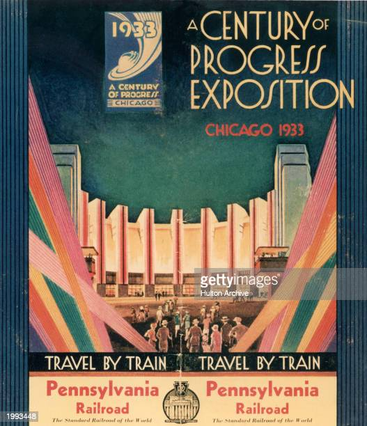 A program cover from the 'Century of Progress' exhibition at the 1933 Chicago World's Fair June 1 November 1 1933