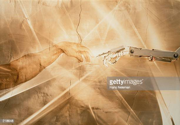 MICHELANGELO HAND WITH ROBOT HAND