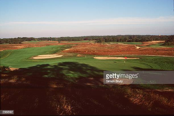 A VIEW FROM THE 18TH GREEN LOOKING BACK TOWARDS THE 18TH FAIRWAY AT SHINNECOCK HILLS GOLF CLUB IN SOUTHAMPTON NEW YORK THE SITE OF THE 1995 US OPEN...