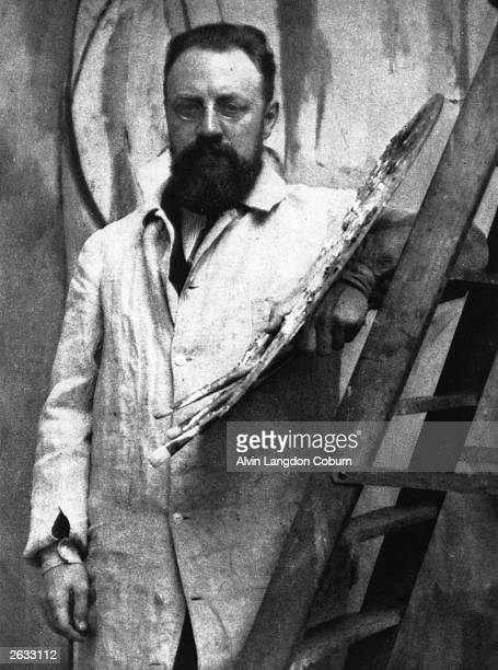 French painter of the Fauve Group Henri Matisse in his Paris studio Photogravure from 'Men of Mark' published 1913