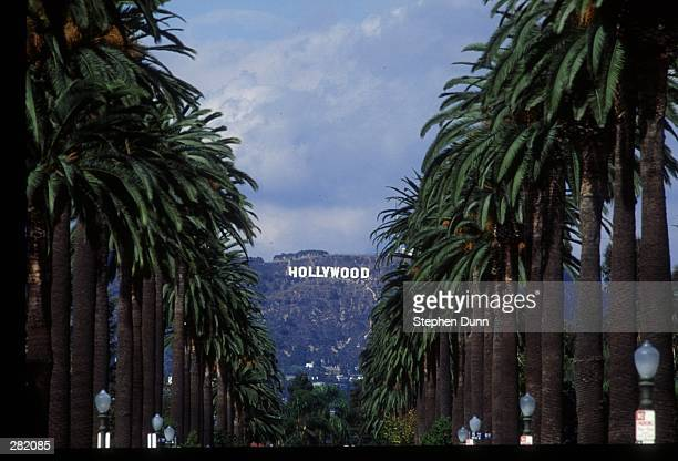 A GENERAL VIEW OF THE FAMOUS HOLLYWOOD SIGN IN LOS ANGELES. L.A. IS ONE OF THE SITES FOR THE 1994 WORLD CUP SOCCER FINALS