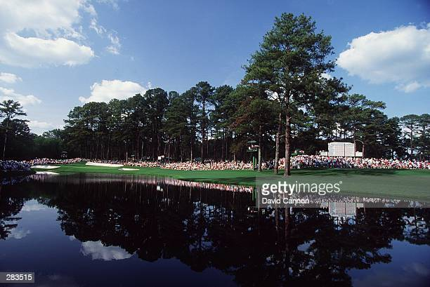 A SCENIC VIEW OF THE 16TH HOLE DURING THE 1992 MASTERS TOURNAMENT AT THE AUGUSTA NATIONAL GOLF COURSE IN AUGUSTA GEORGIA