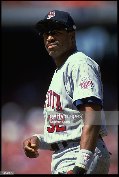 A CANDID PORTRAIT OF MINNESOTA TWINS OUTFIELDER DAVE WINFIELD DURING THE TWINS VERSUS CALIFORNIA ANGELS GAME AT ANAHEIM STADIUM IN ANAHEIM CALIFORNIA...